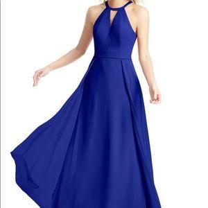 Azazie Melody long chiffon dress with pockets